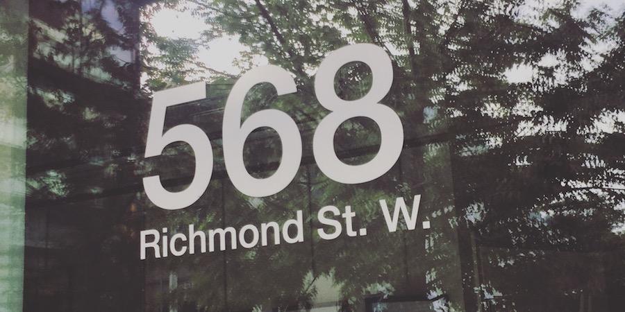 Nos bureaux ont maintenant pignon sur rue Richmond ouest !